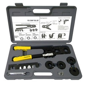 pex crimp tool kit for all sizes decrimper cutter ebay. Black Bedroom Furniture Sets. Home Design Ideas