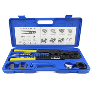 Pex crimp crimper crimping tool kit large for 1 and 1 for Pex vs copper cost